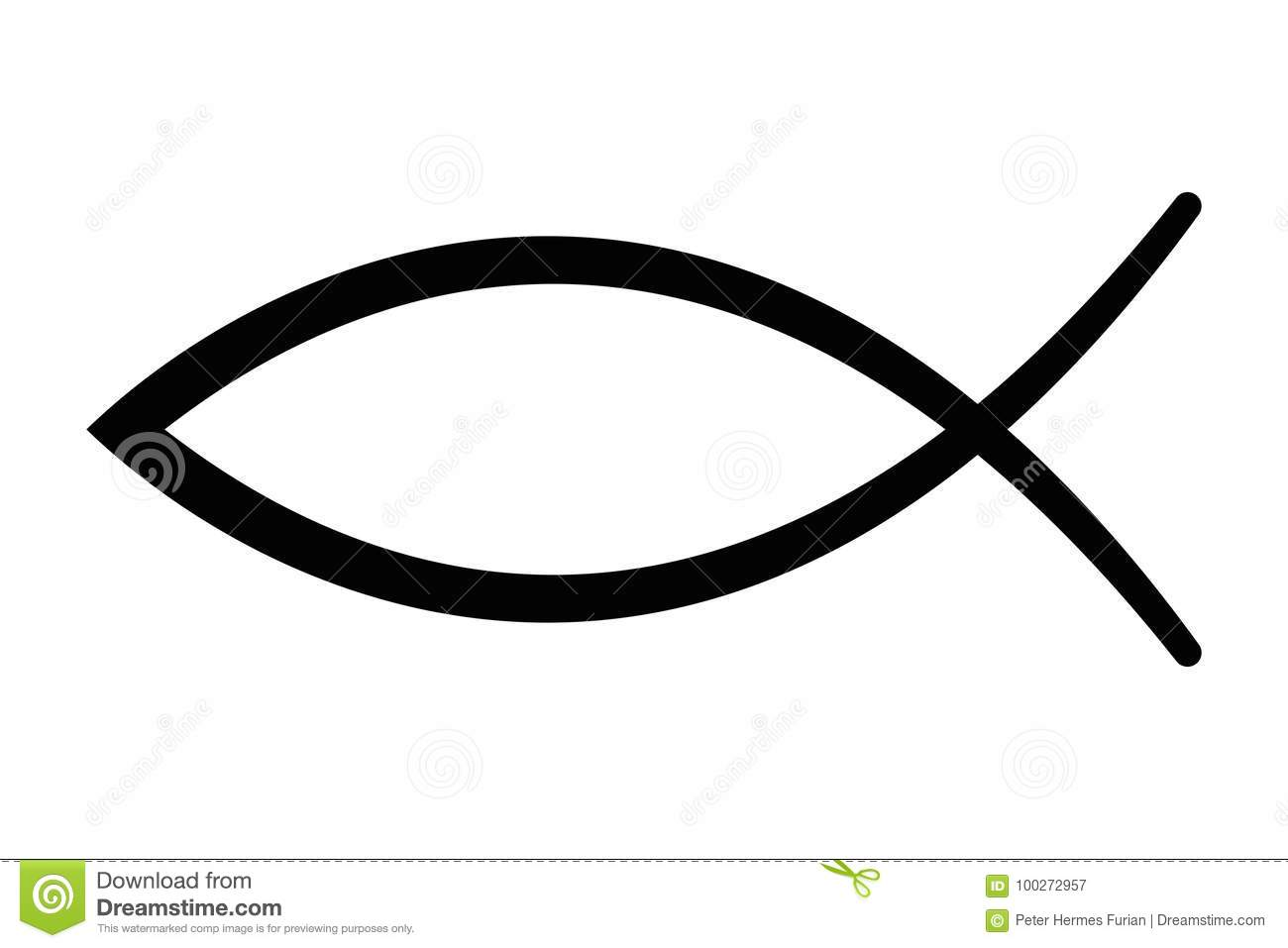 Greek symbol for christ choice image symbol and sign ideas sign of the fish symbol of christian art stock vector sign of the fish symbol of buycottarizona