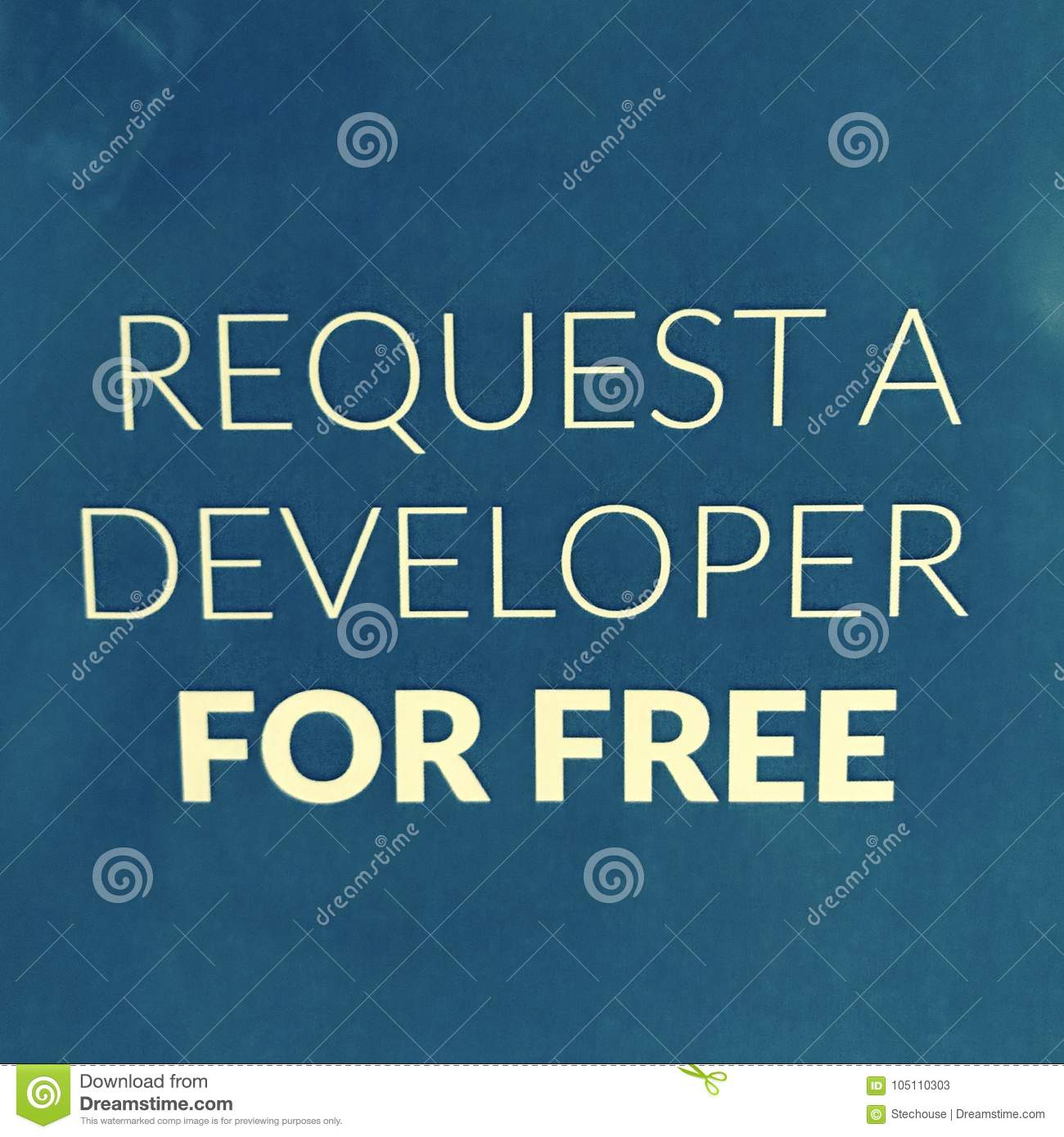 REQUEST A DEVELOPER FOR FREE SIGN