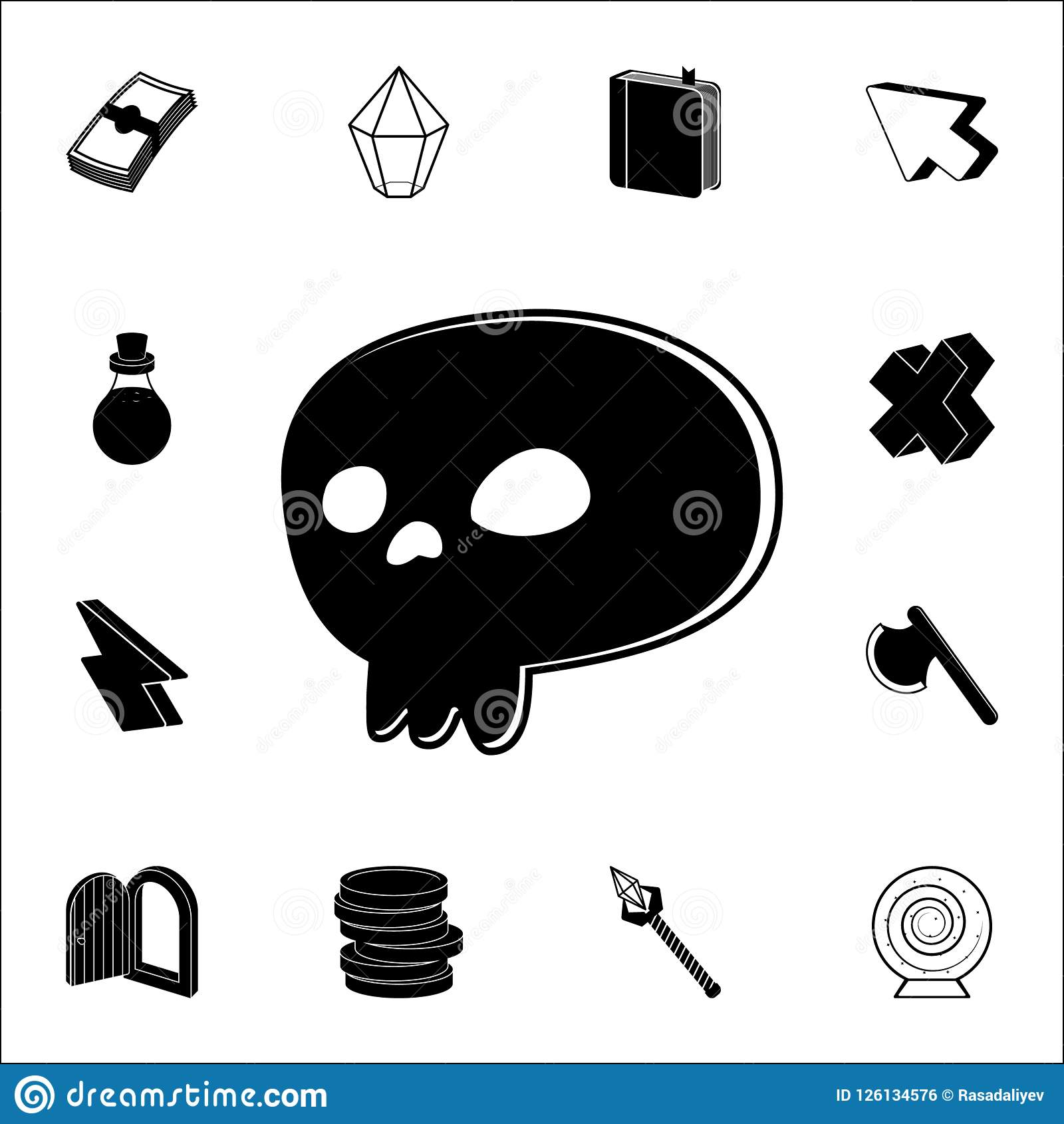 Sign In The Game Skull Icon. Game Icons Universal Set For Web And ...