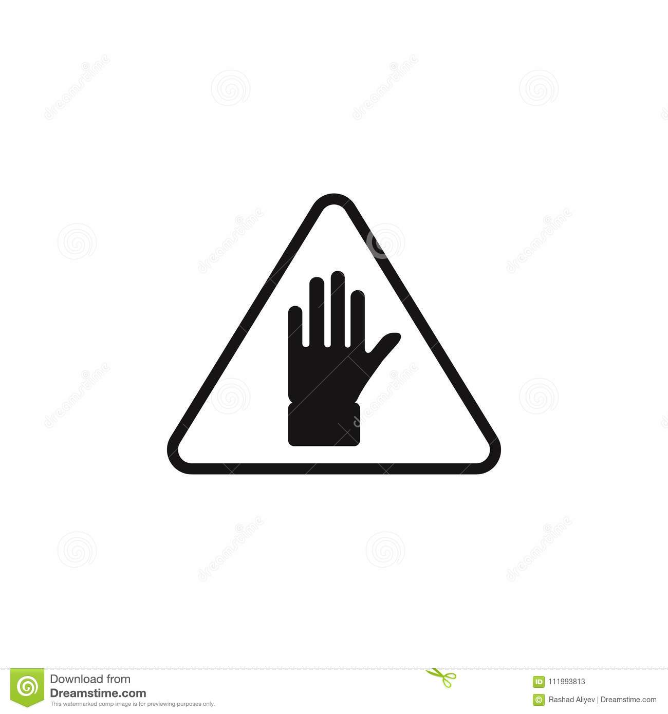 Sign Hand Icon Element Of Danger Signs Icon Premium Quality
