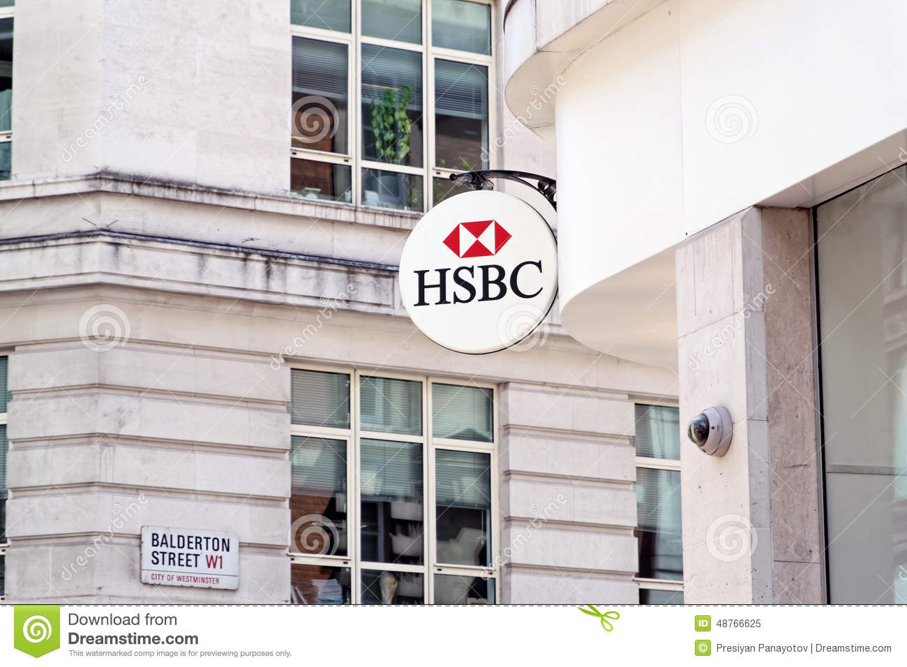 The sign of HSBC bank editorial image  Image of retail