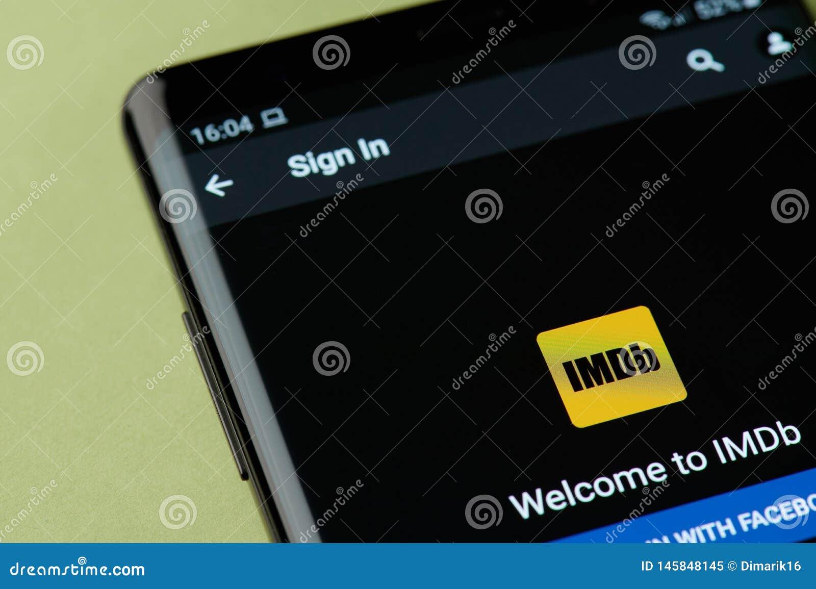 Sign in in IMDb editorial image  Image of illustrative