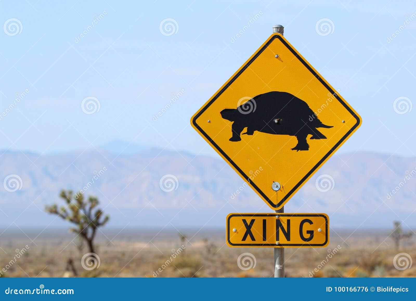 Desert tortoise crossing sign