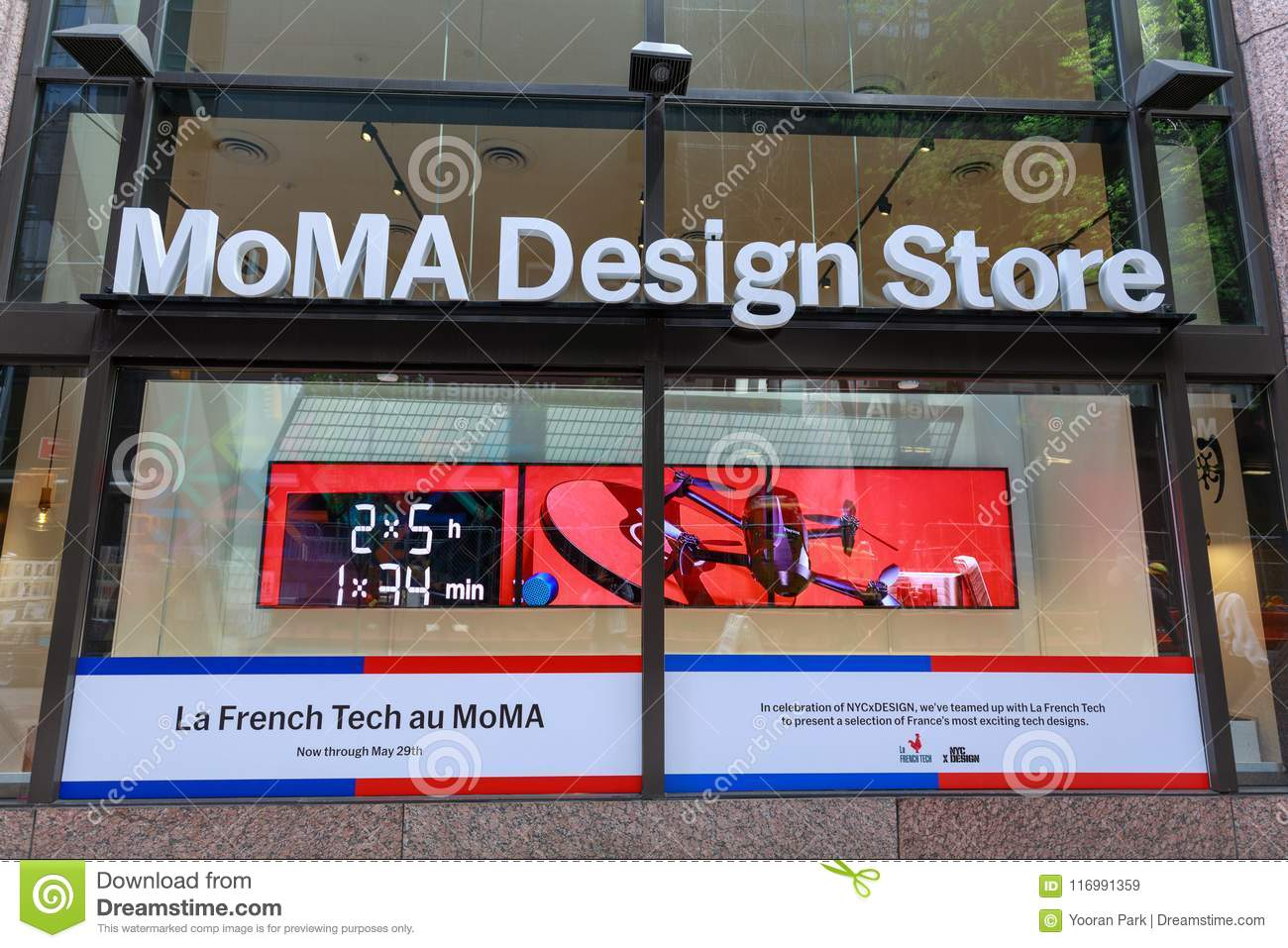 Sign Of MoMa Design Store In Manhattan, NYC Stock Image - Image of ...