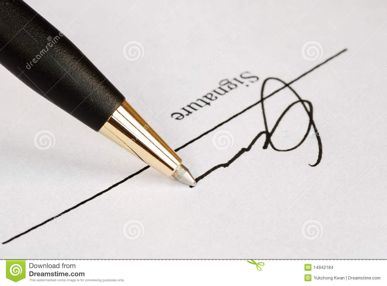 sign the name on a paper stock photo  image of rental