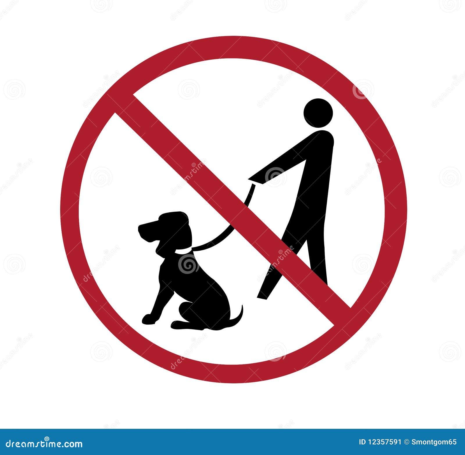No Dog Walking Stock Illustration. Image Of