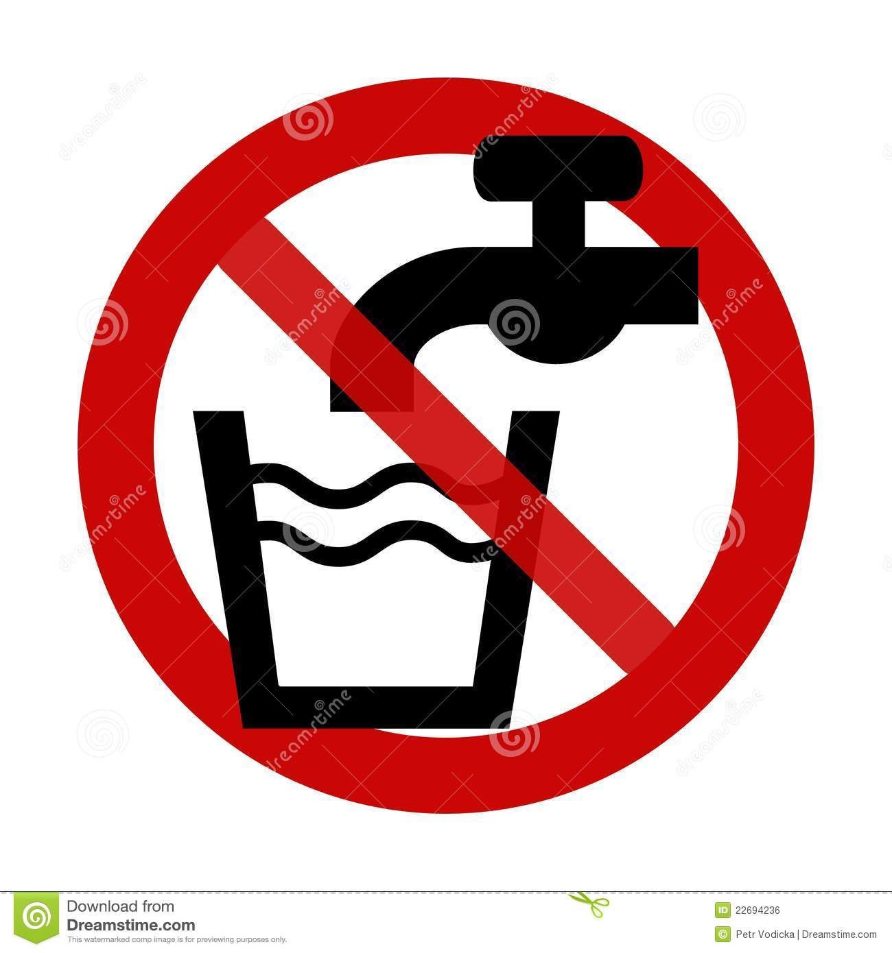 Sign no drinking water stock vector illustration of