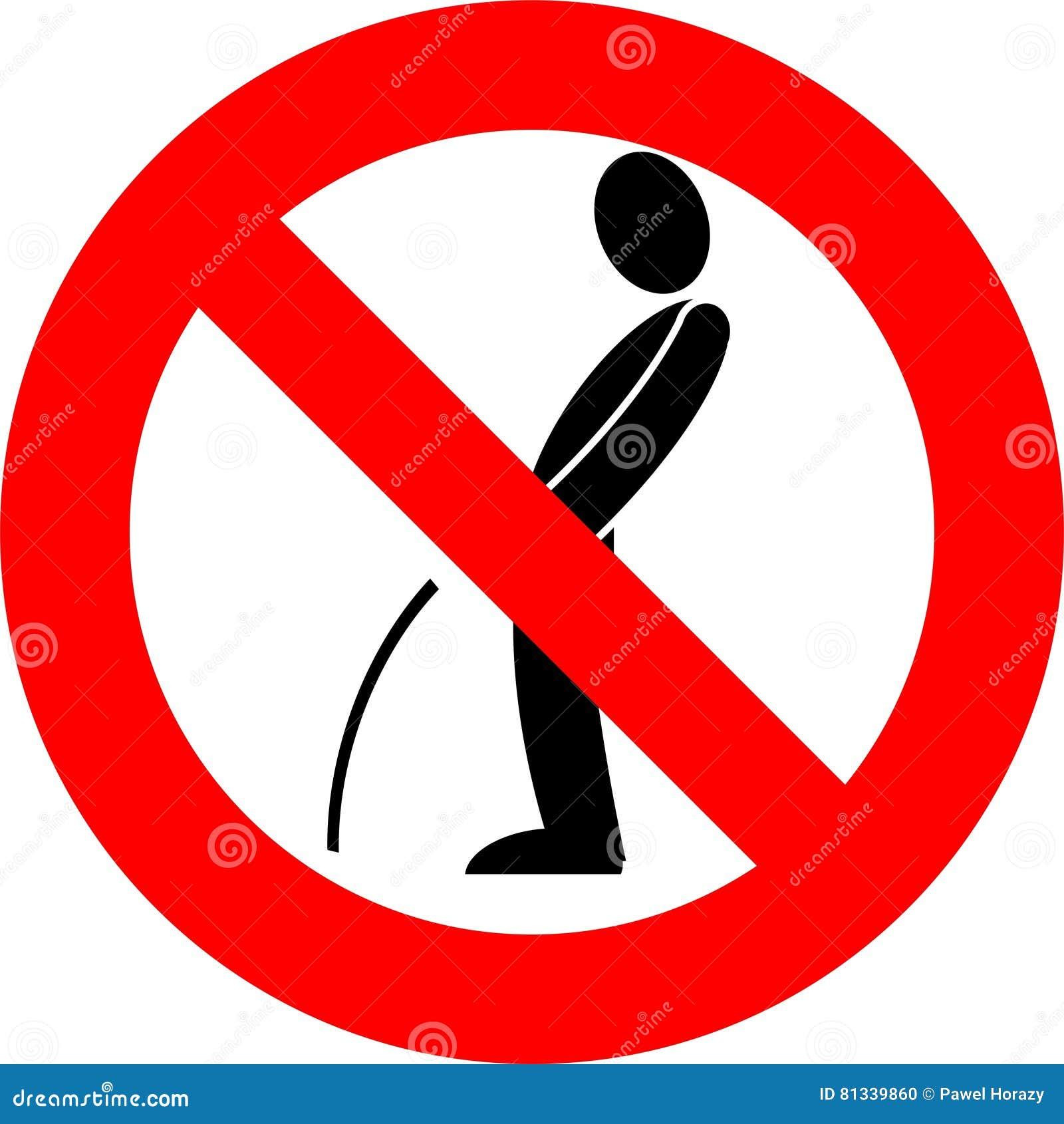 Man Peeing Sign Vector Illustration