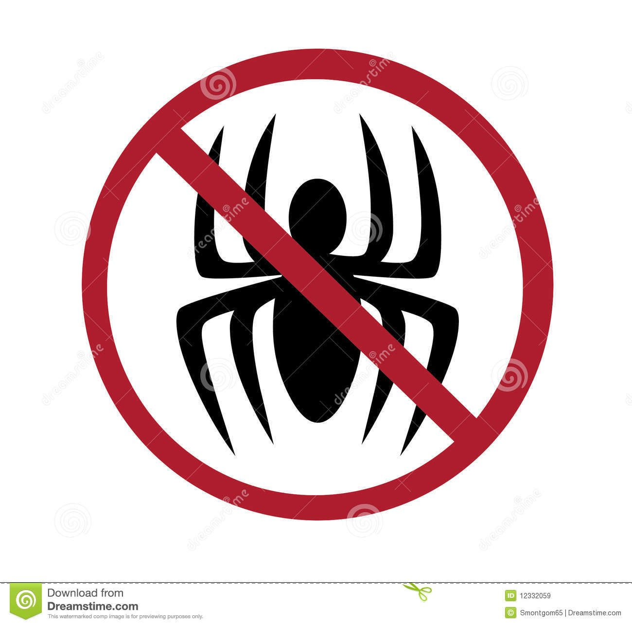Sign - No Spiders Royalty Free Stock Images - Image: 12332059