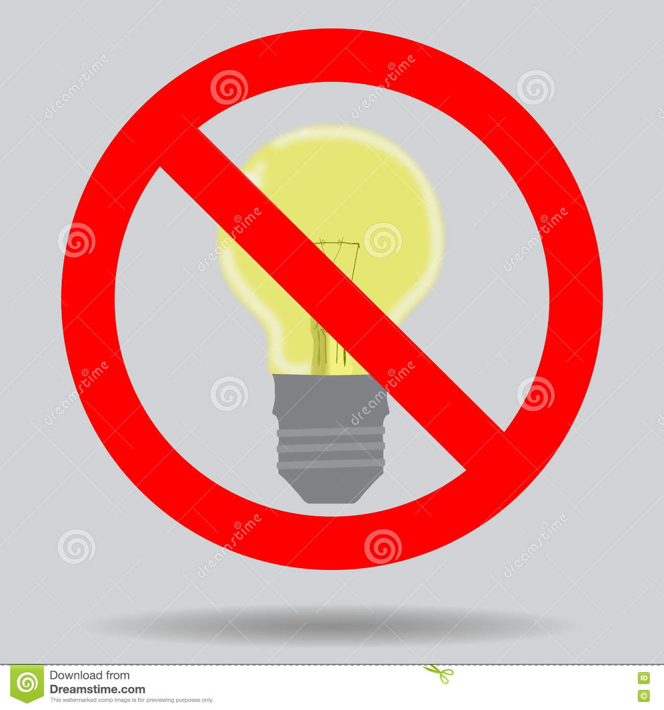 Sign Off The Light To Save Electricity Stock Illustration ... for Save Electricity Clipart  181obs