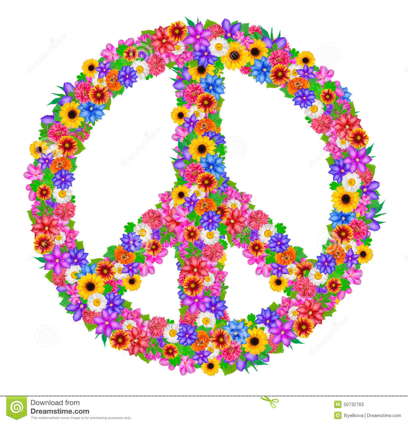 sign peace from flowers stock illustration image of