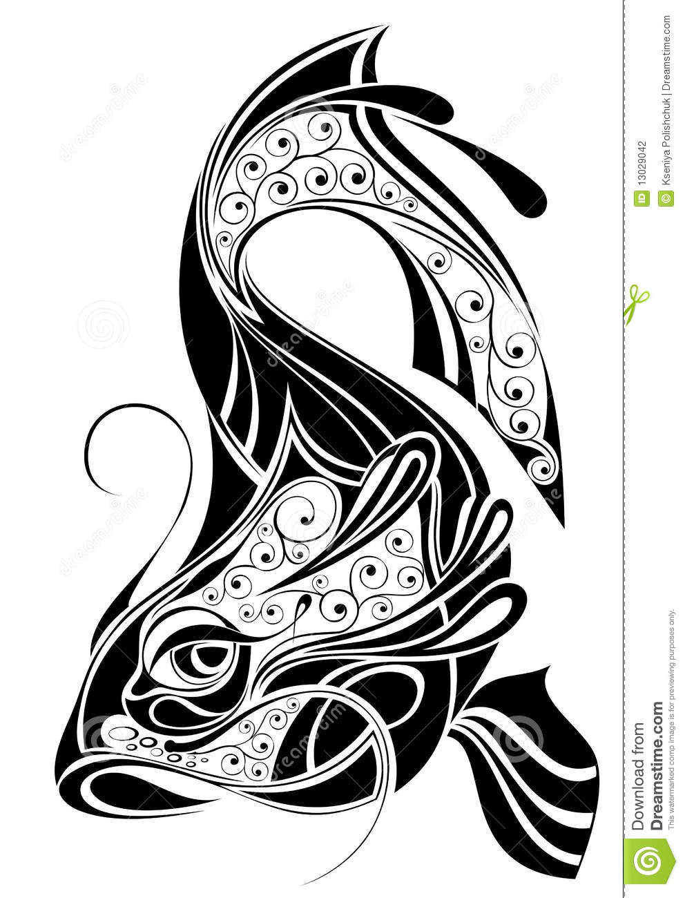 Sign Of Pisces Design Stock Vector Illustration Of Sign