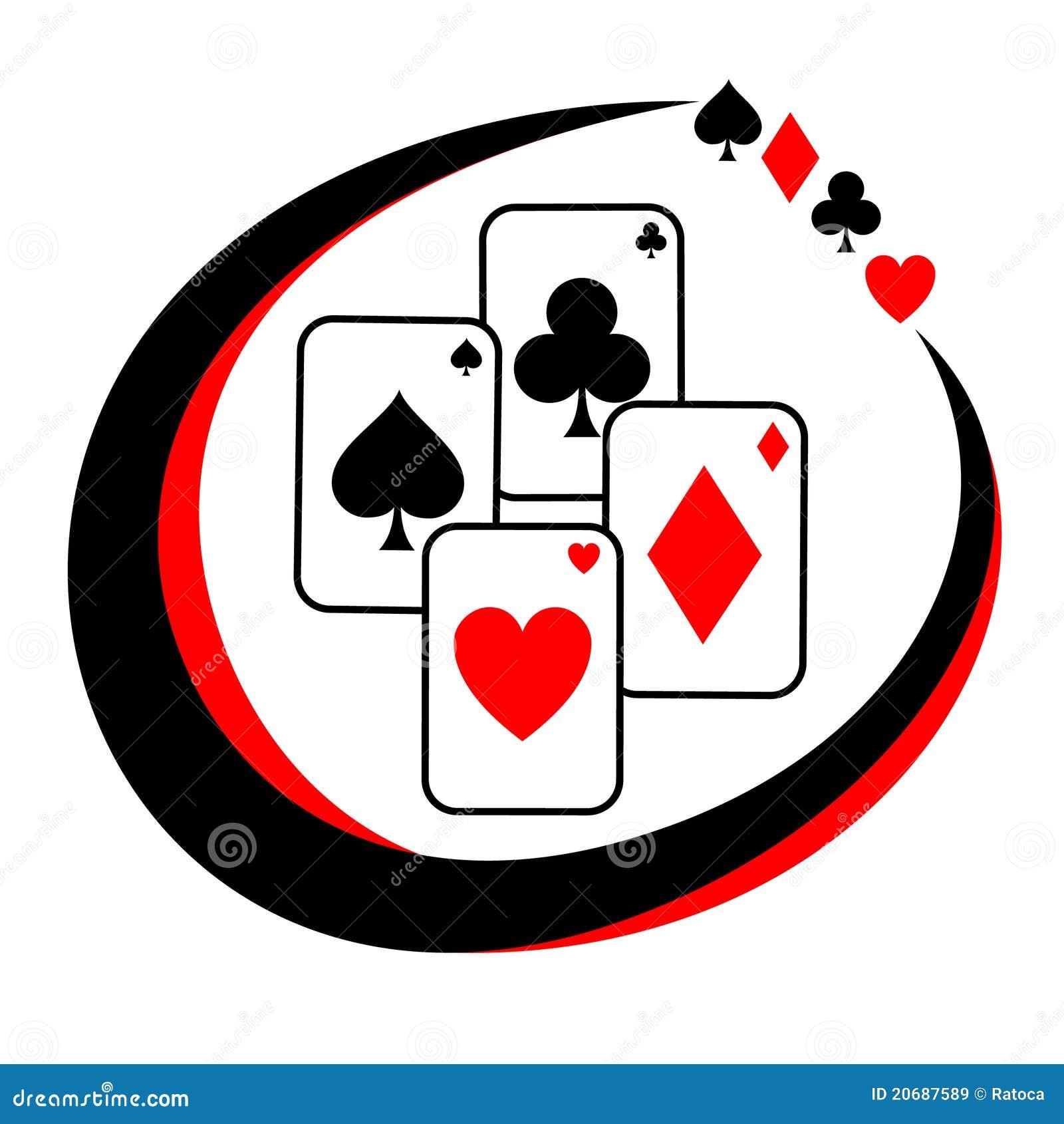 Poker border vector