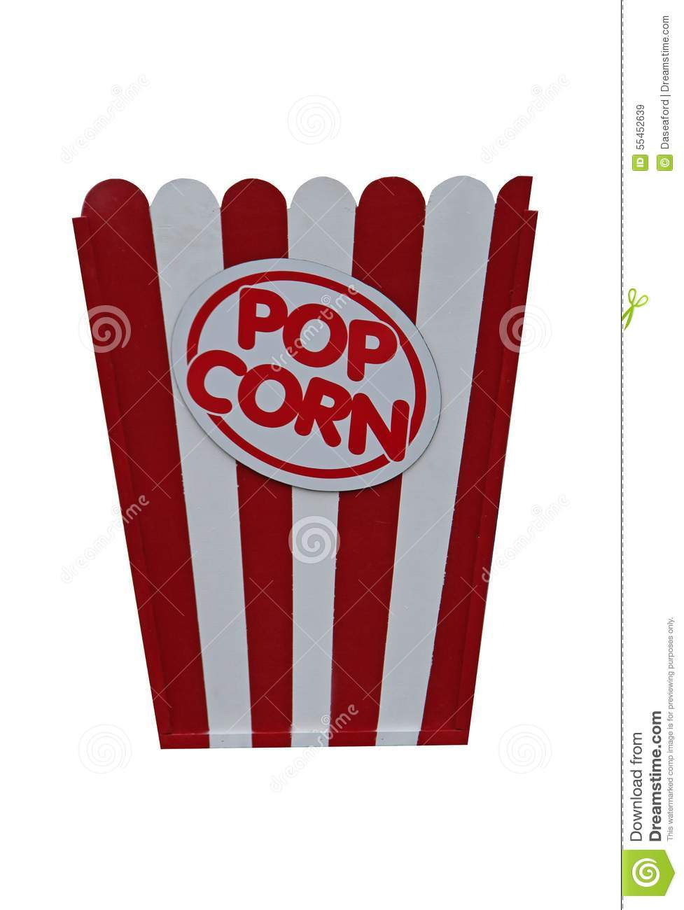Sign For Popcorn Stock Image Image Of Popcorn Food