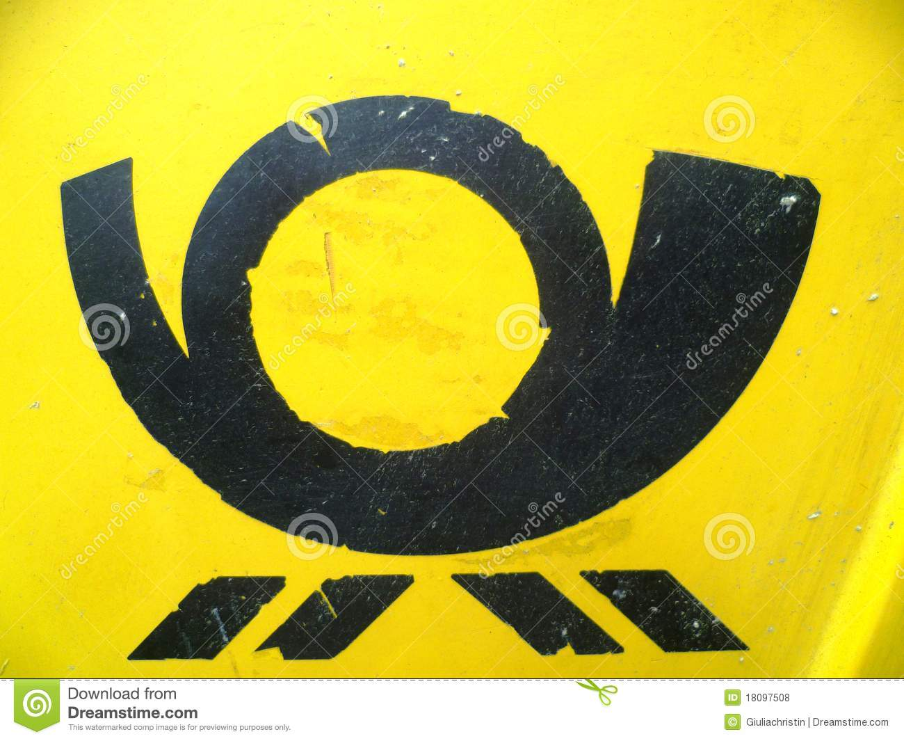 Sign of post horn editorial stock photo image 18097508