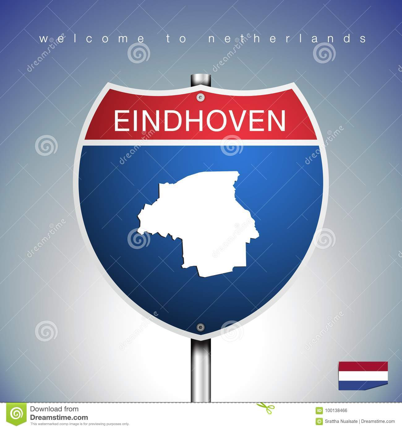 The City Label And Map Of Netherlands In American Signs Style Stock ...