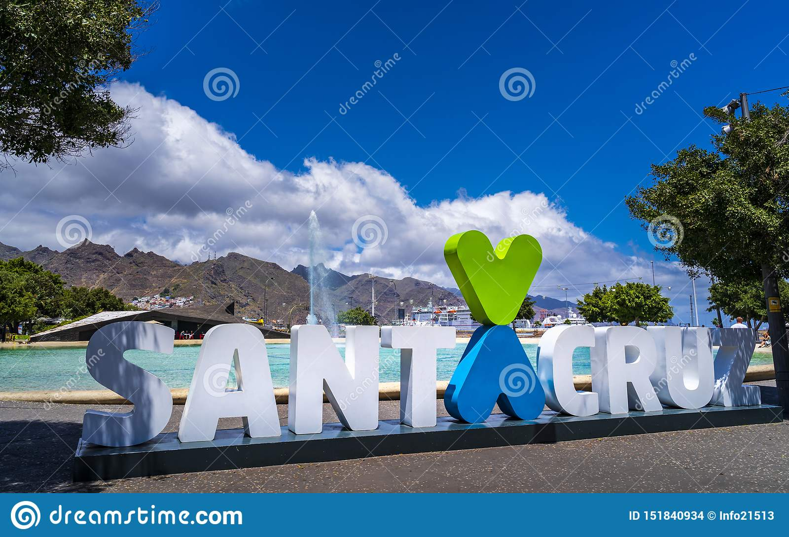 Sign of Santa Cruz de Tenerife