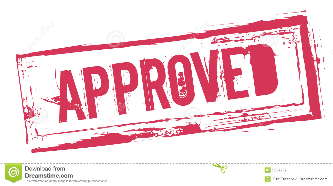 Sign Saying Approved Royalty Free Stock Photography