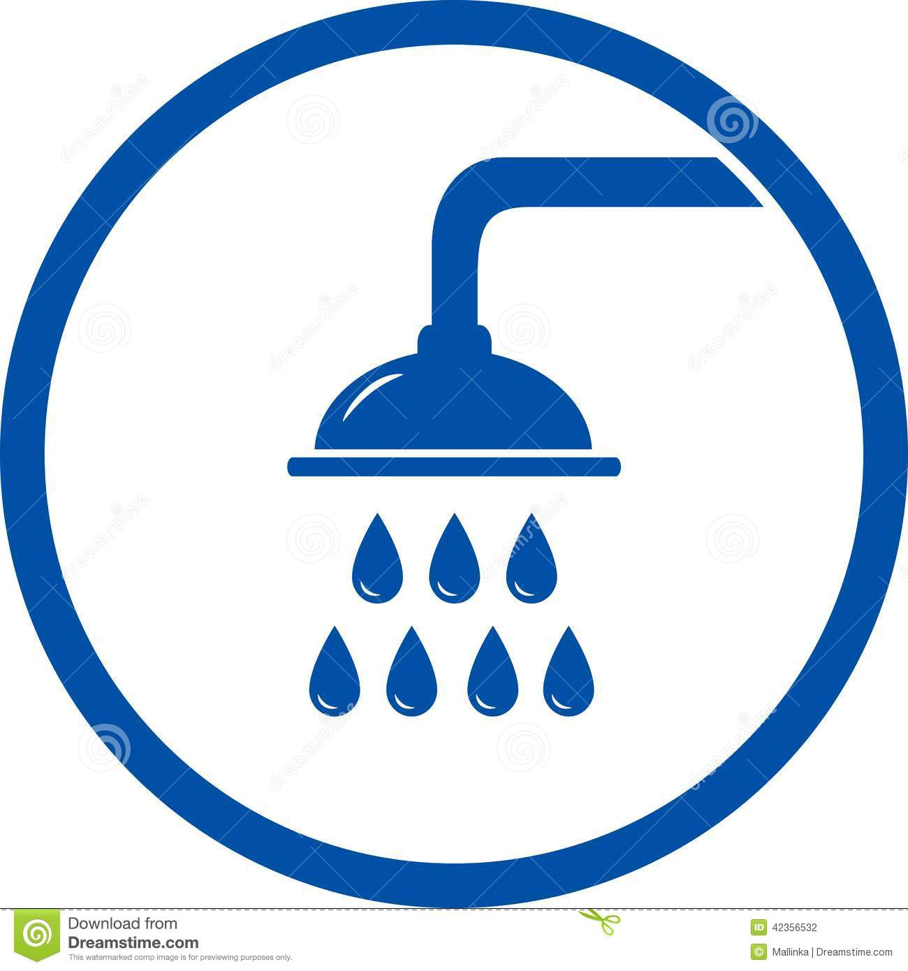 Sign With Shower Head Stock Vector Illustration Of Drip