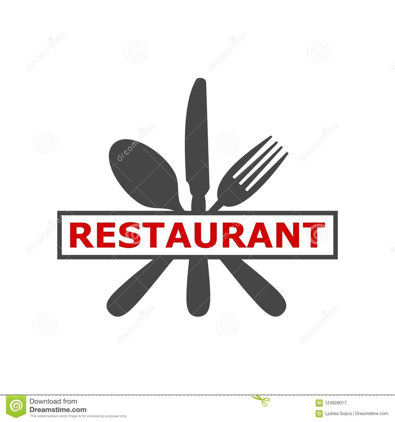 Sign With Spoon, Fork And Knife, Besteck Logo, Logo Modern