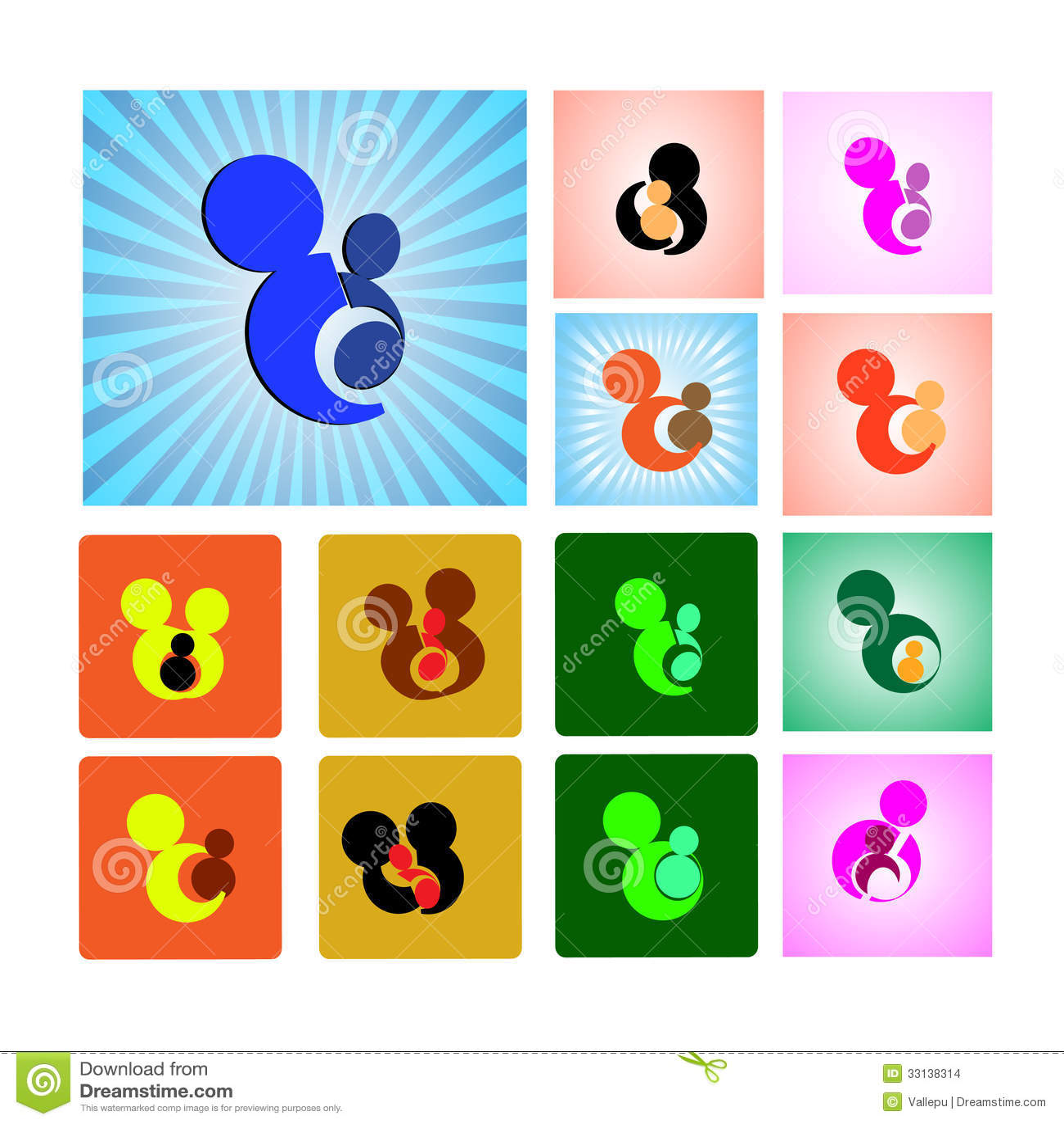 Sign Or Symbol Of Mother And Child Illustration 33138314 Megapixl