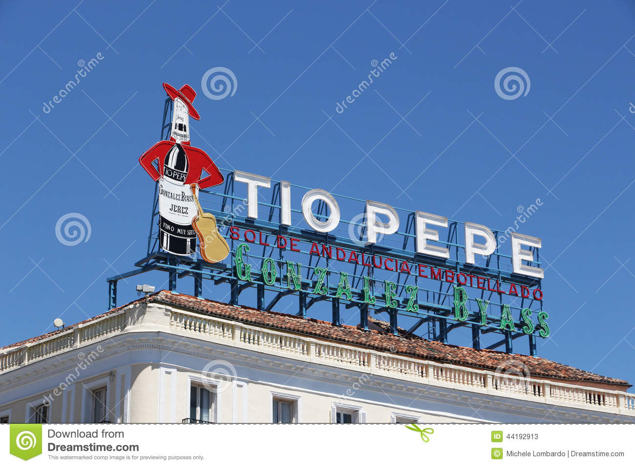 Sign Of Tio Pepe Madrid Editorial Stock Photo Image