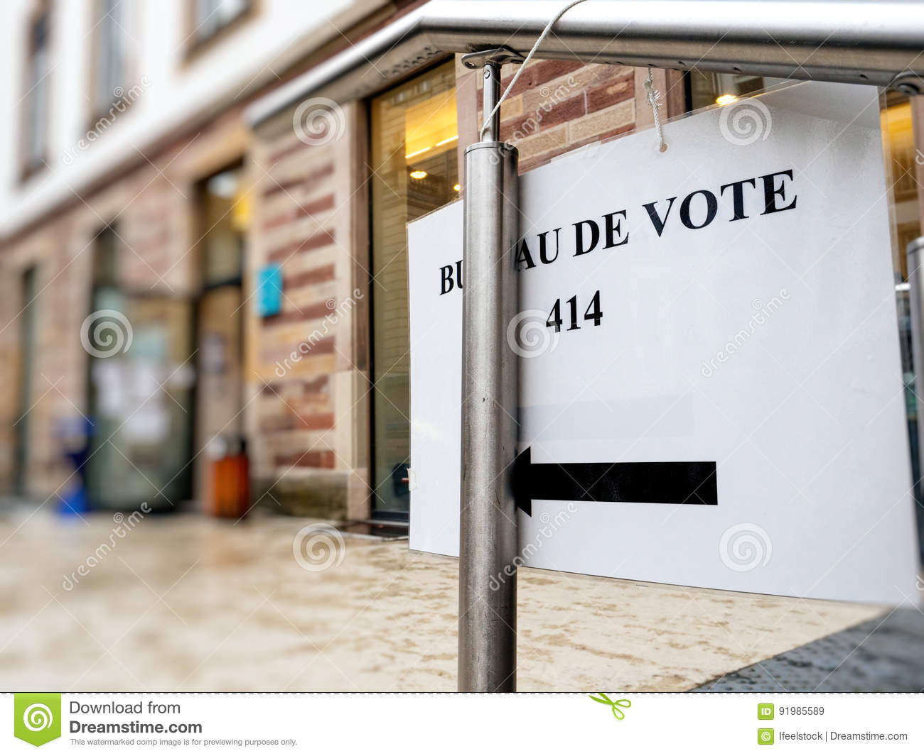 Sign to bureau de vote france paris stock image image of paris
