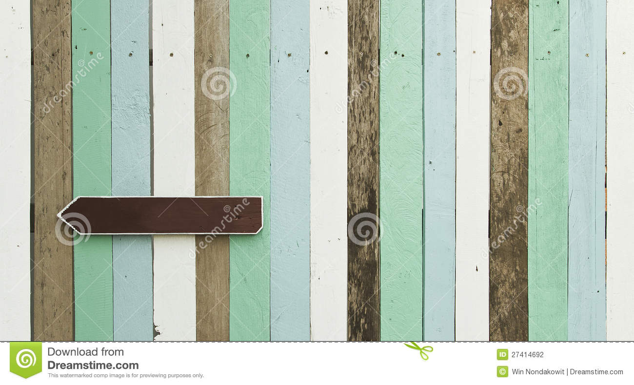 Sign on wood panel stock photography image