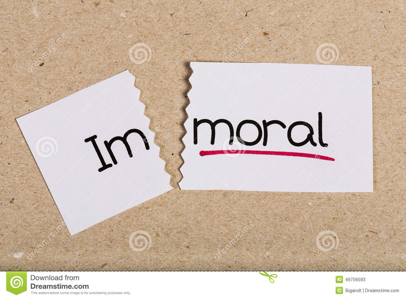 moral or immoral in the business Groups and societies have moral expectations just as individuals have moral judgments equating morality with the individual and ethics with society makes it impossible to see that some social arrangements are immoral and that groups as a whole can be morally wrong.