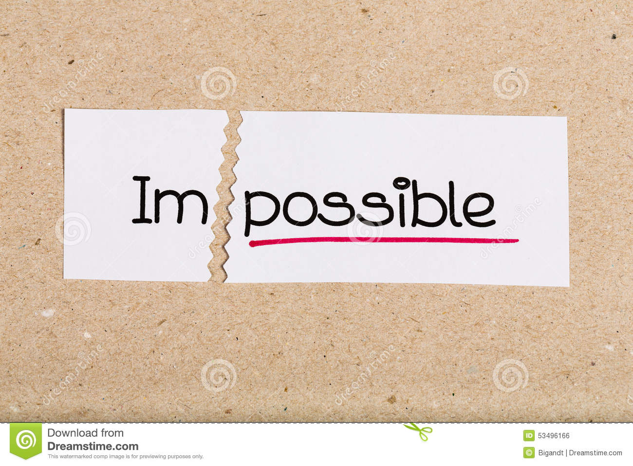 possible and impossible Commontg hands on: possible or impossible objective determine if an event is possible or impossible materials for the teacher a bag, large red.