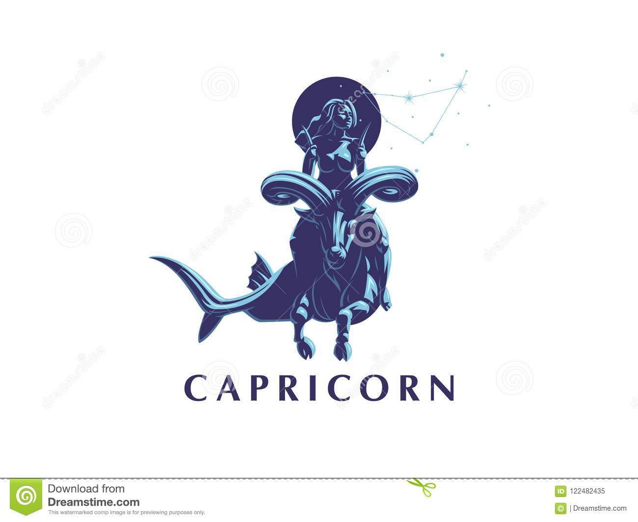 Sign Of The Zodiac Capricorn  A Woman Riding A Horse In