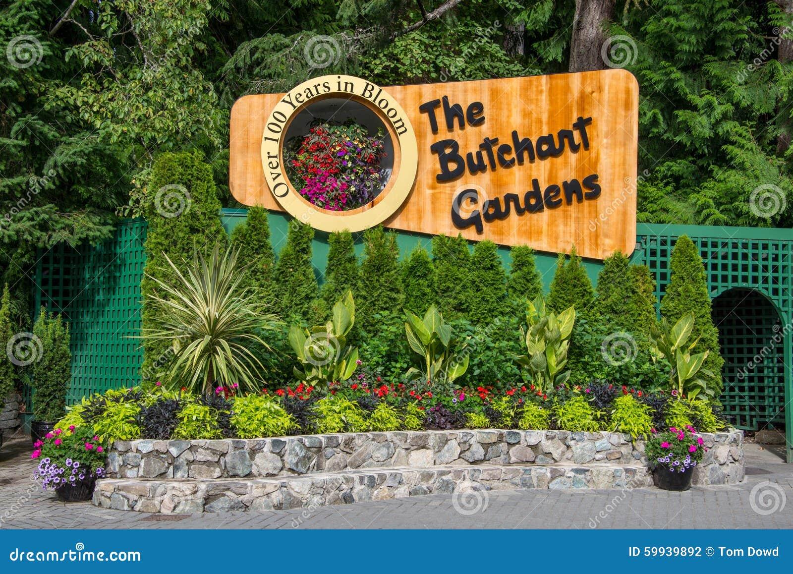 Signage for butchart gardens victoria bc canada editorial download comp altavistaventures Choice Image