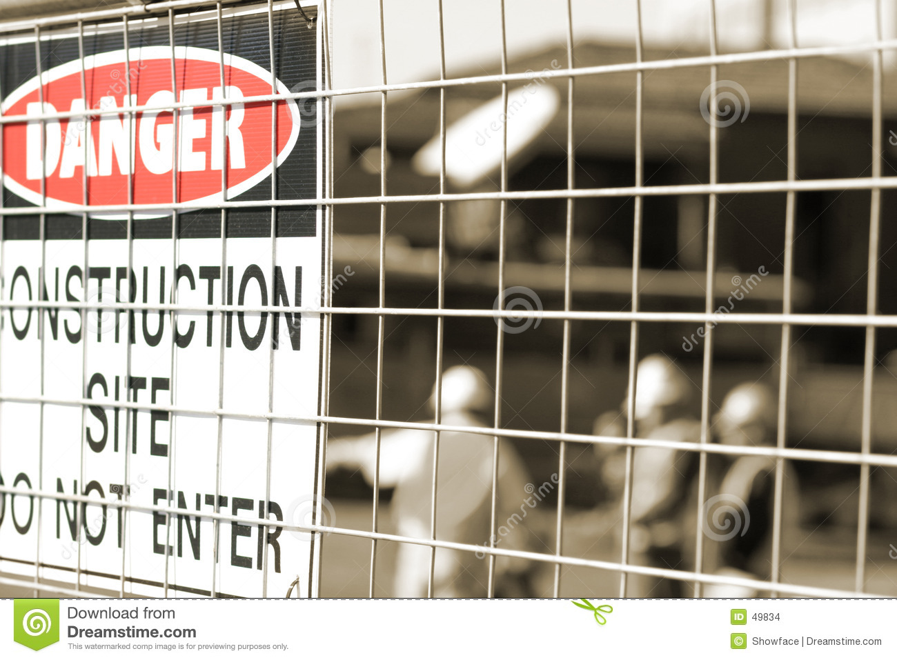 Download Signage And Construction Workers Stock Photo - Image of construction, danger: 49834