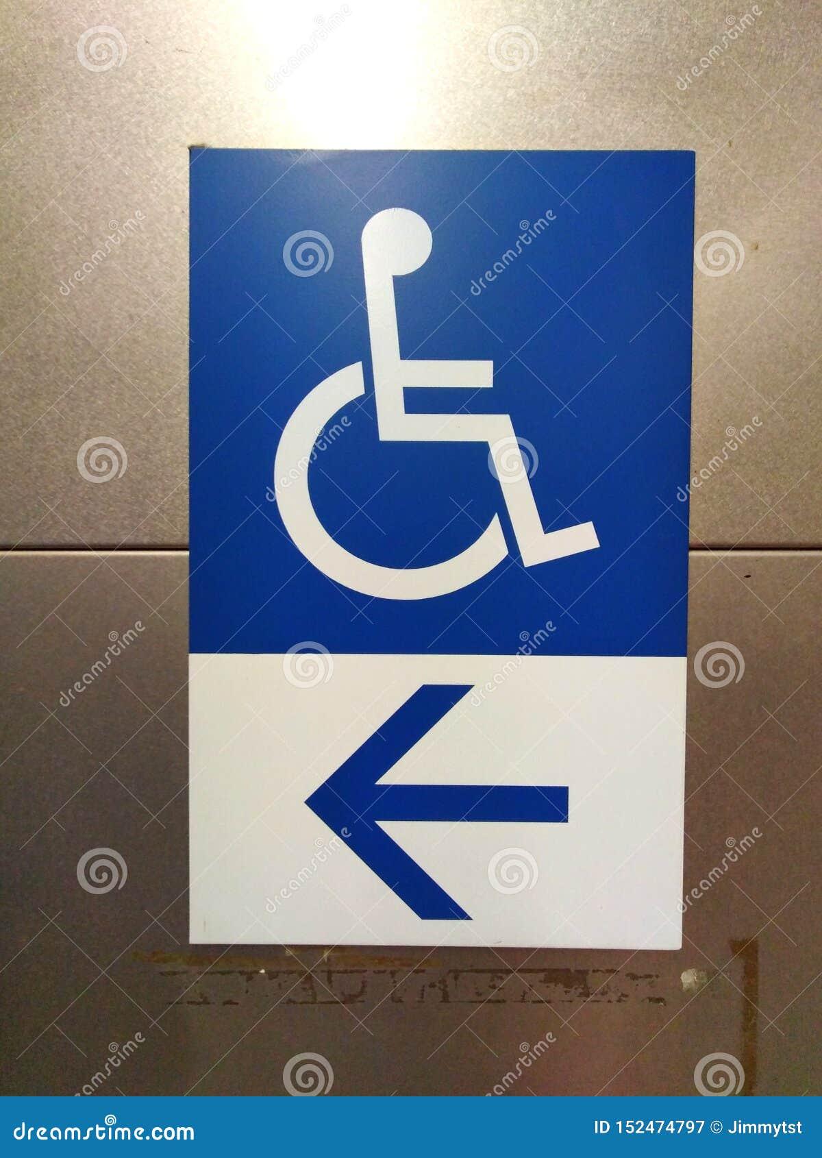 Signage d accès d incapacité