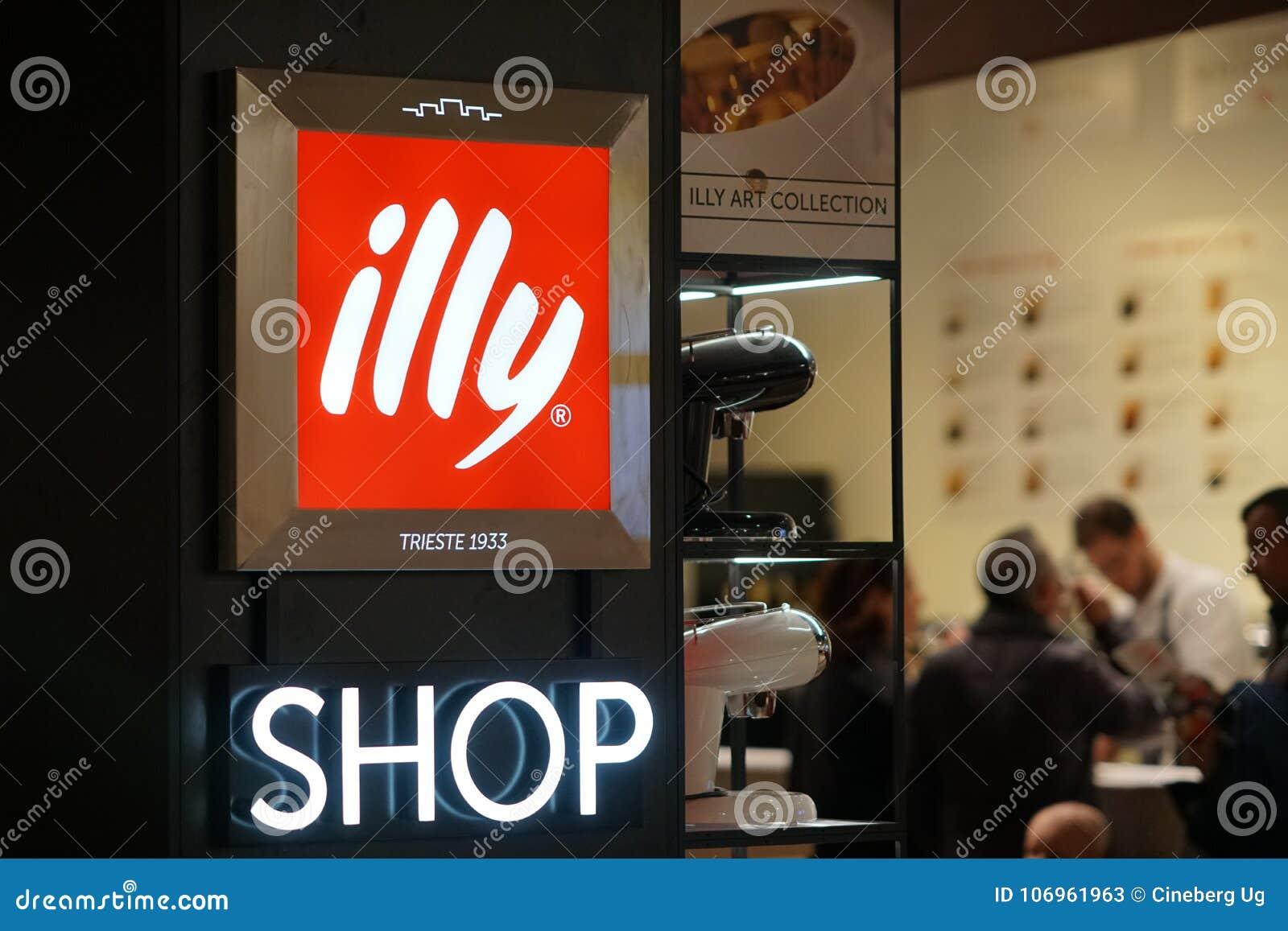Signage de boutique de caffè d Illy en dehors d une barre