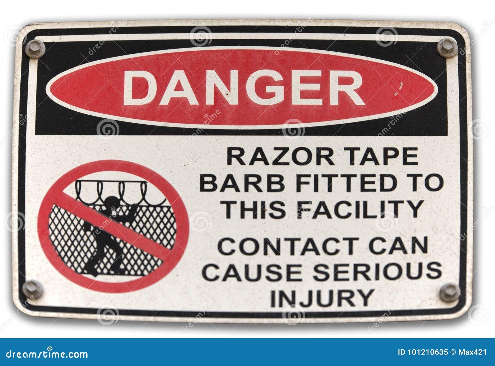 Signage do fio da lâmina do perigo