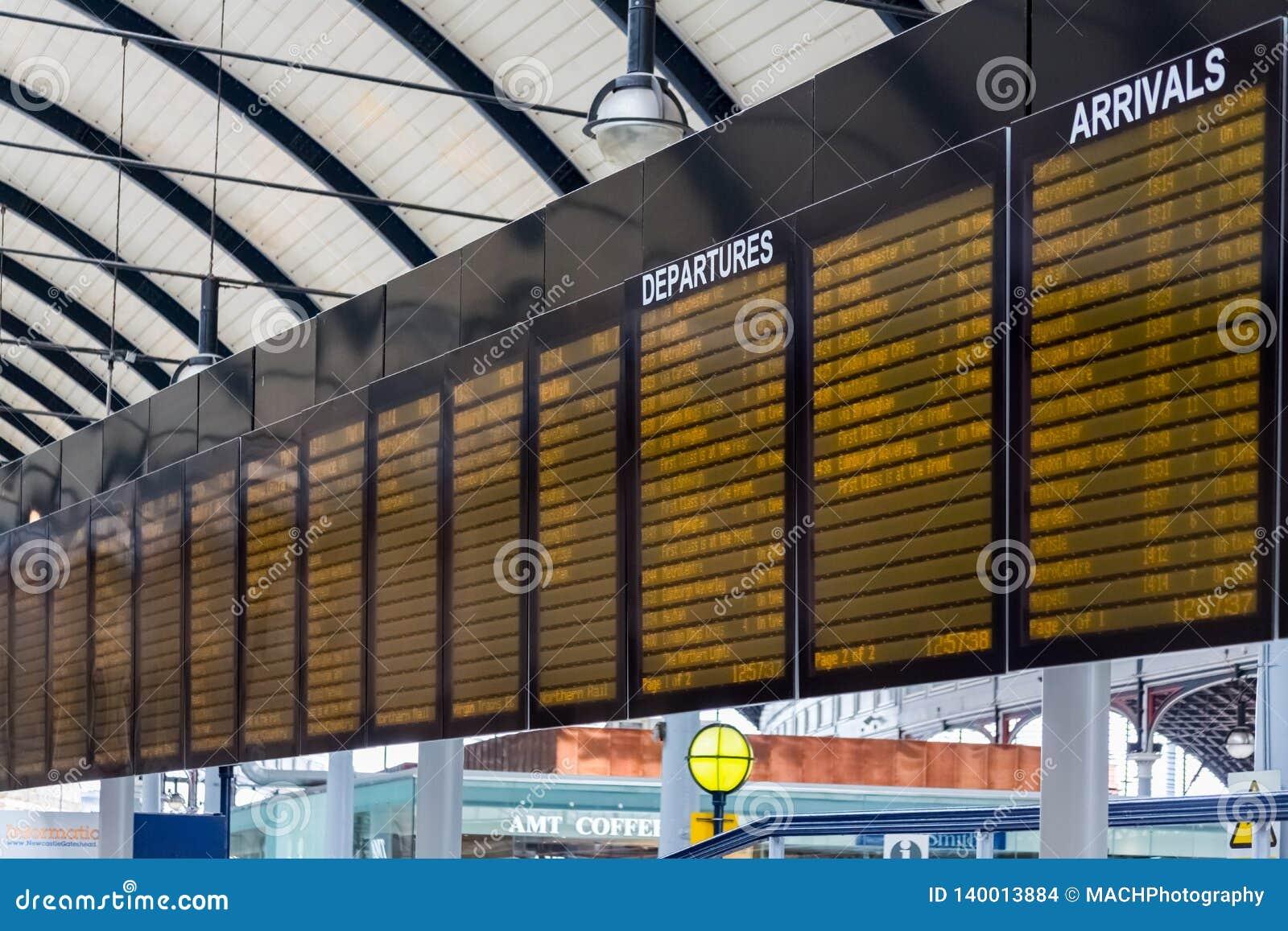 Signage på den Newcastle stationen