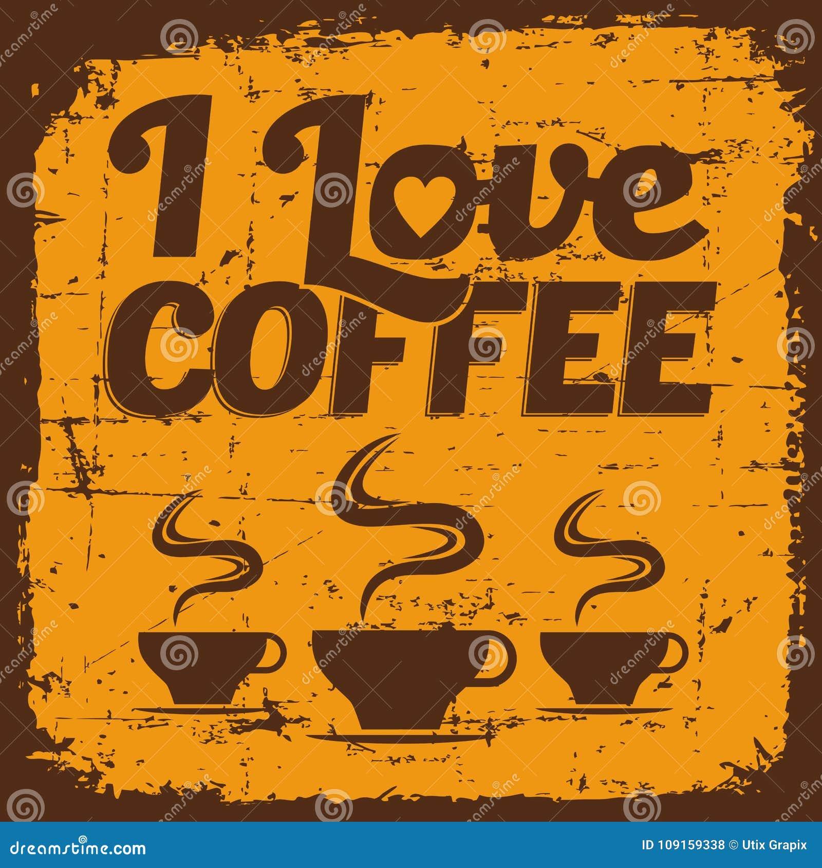 Signage retro velho do sinal do café do vintage