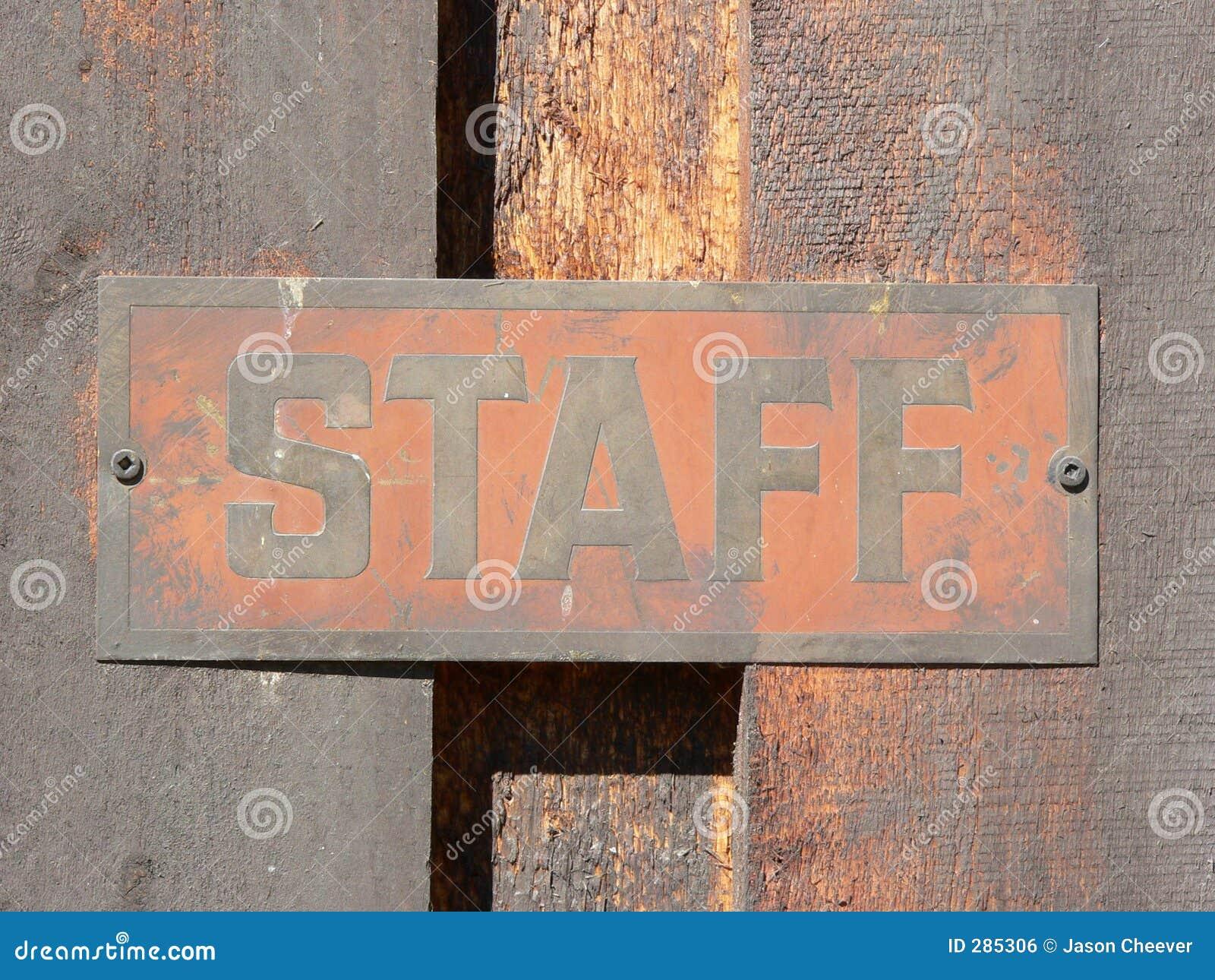 Signage van het personeel