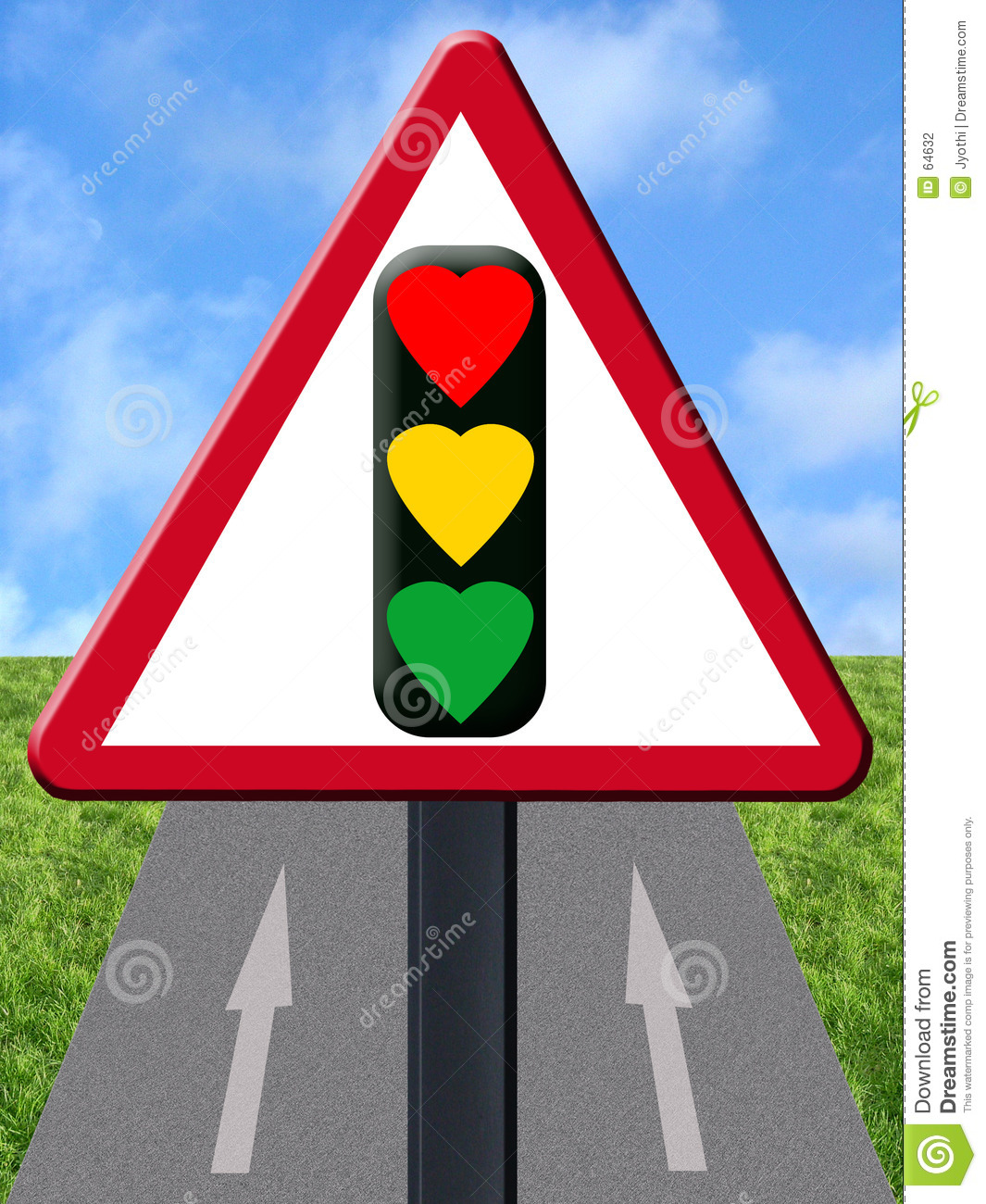 Download Signal d'amour illustration stock. Illustration du signal - 64632