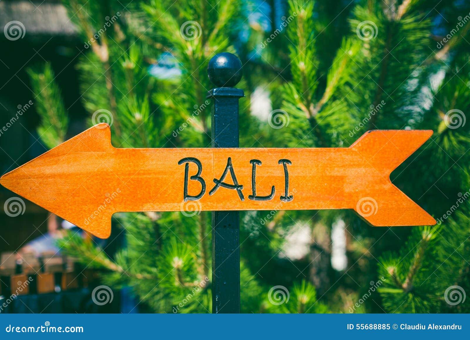 Signal de direction de Bali