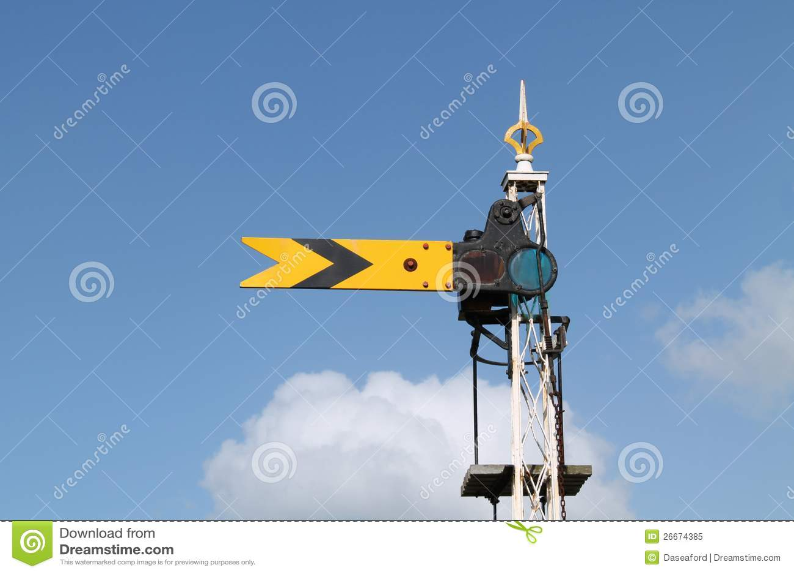 Signal ferroviaire de train.