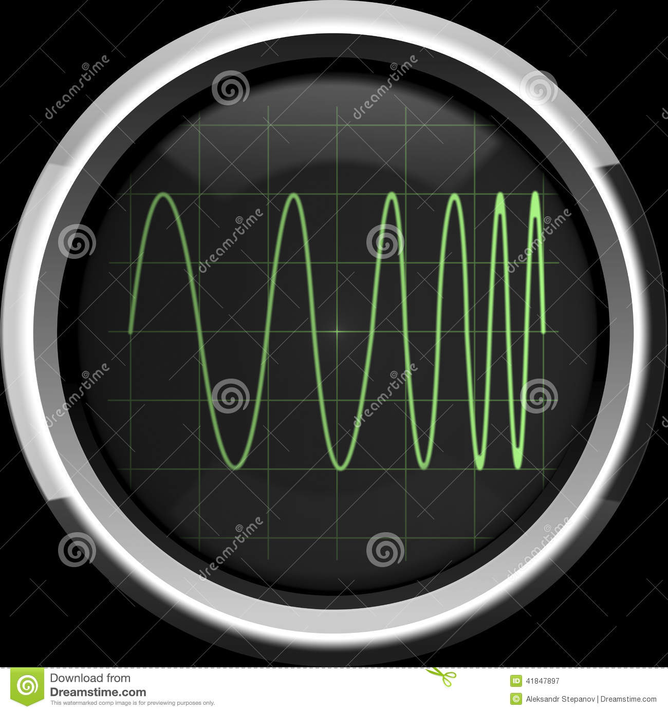 Signal With Frequency Modulation Fm Stock Illustration Modulated Oscillator Circuit