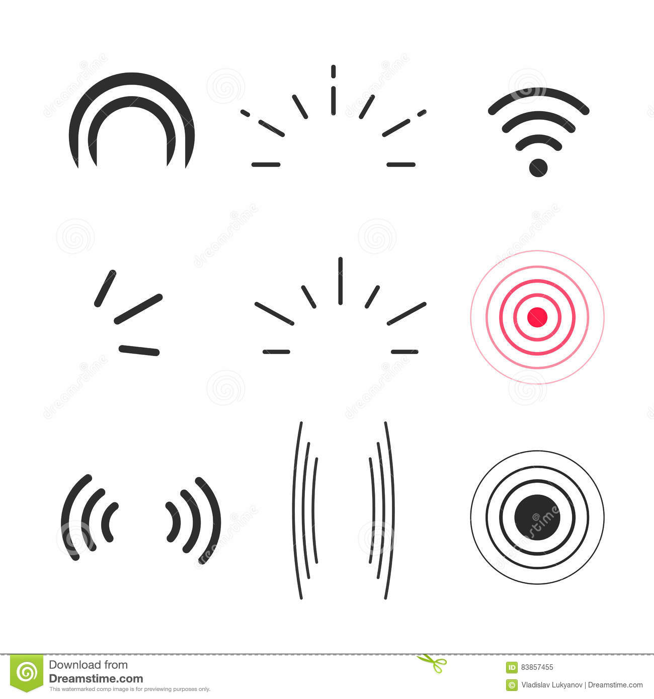 Radio Signal For Line Wiring Diagrams Transistor Curve Tracer Circuit Diagram Tradeoficcom Icons Vector Signals Waves And Light Rays Symbols Rh Dreamstime Com Icon
