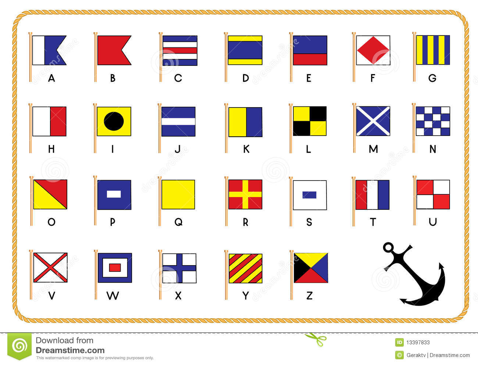 Signal nautical flags stock vector illustration of england 13397833 england message buycottarizona