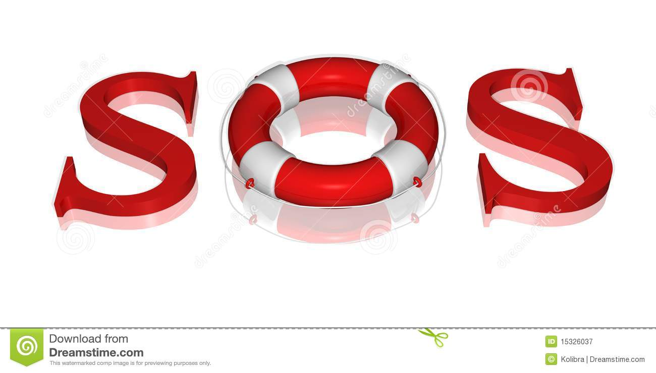 Signal sos text by life buoy royalty free stock photography image