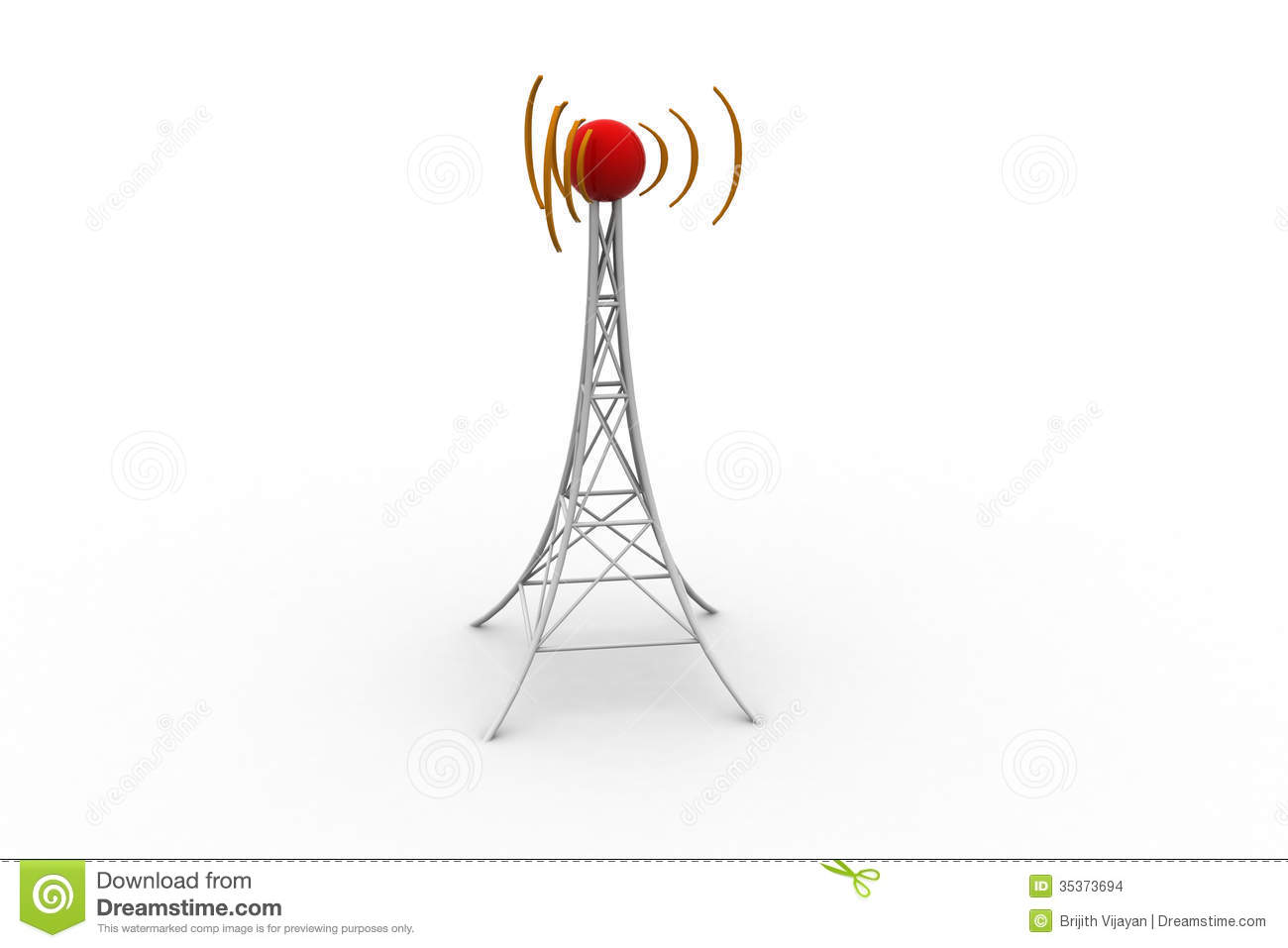 Signal Tower With Networking Stock Illustration Image