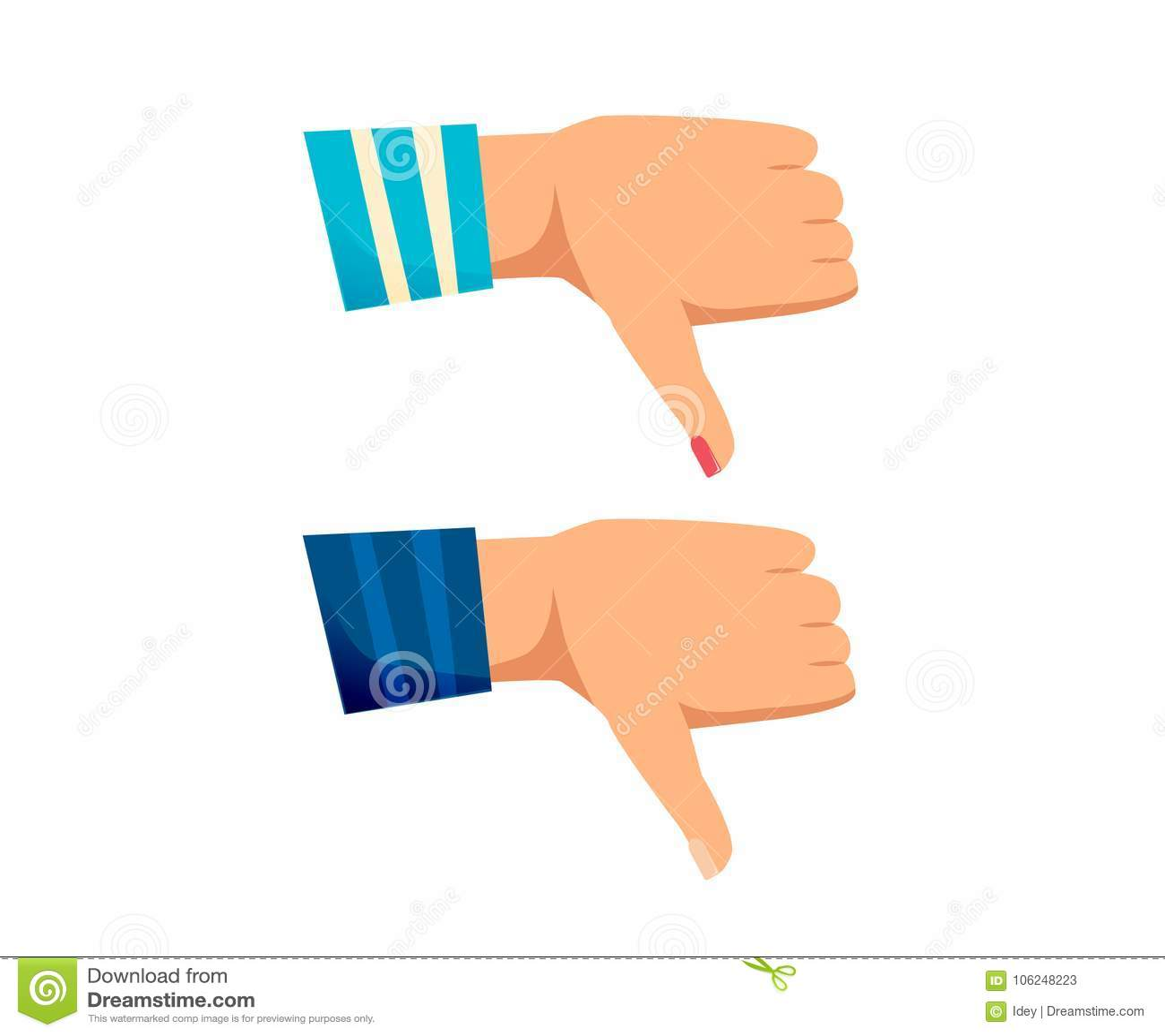 Signaler man, kvinnahandkasseringen av ett beslut,