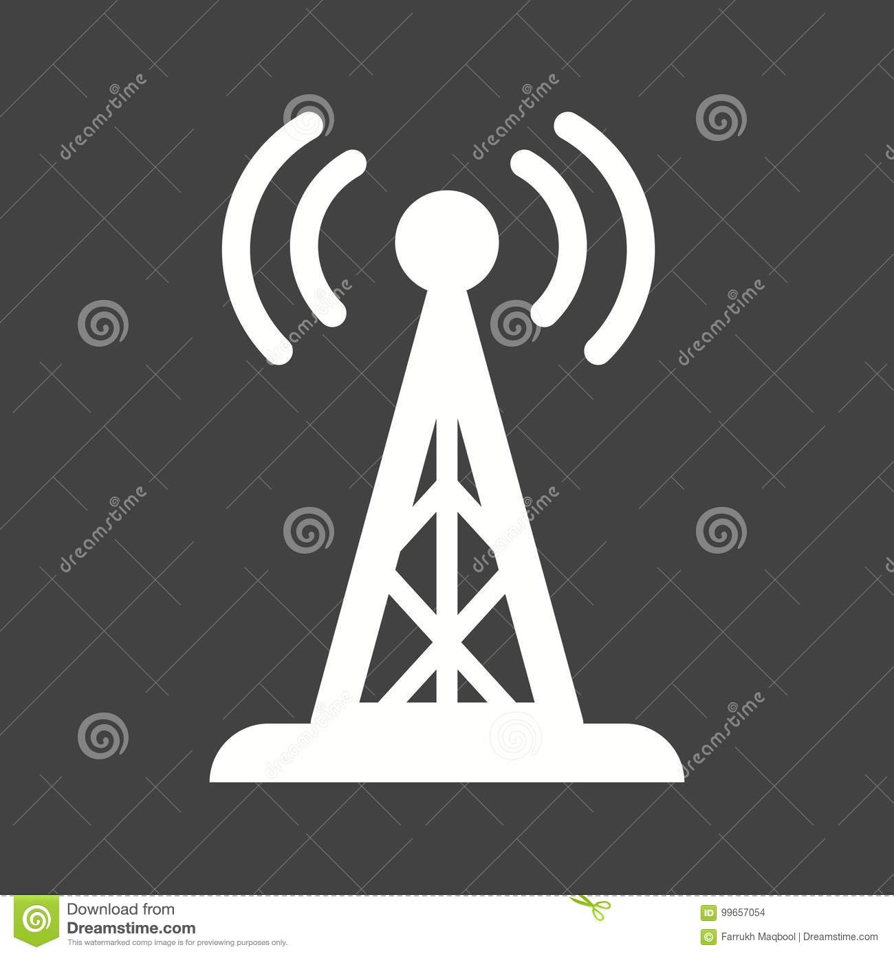 Signals Tower II stock vector  Illustration of technology - 99657054