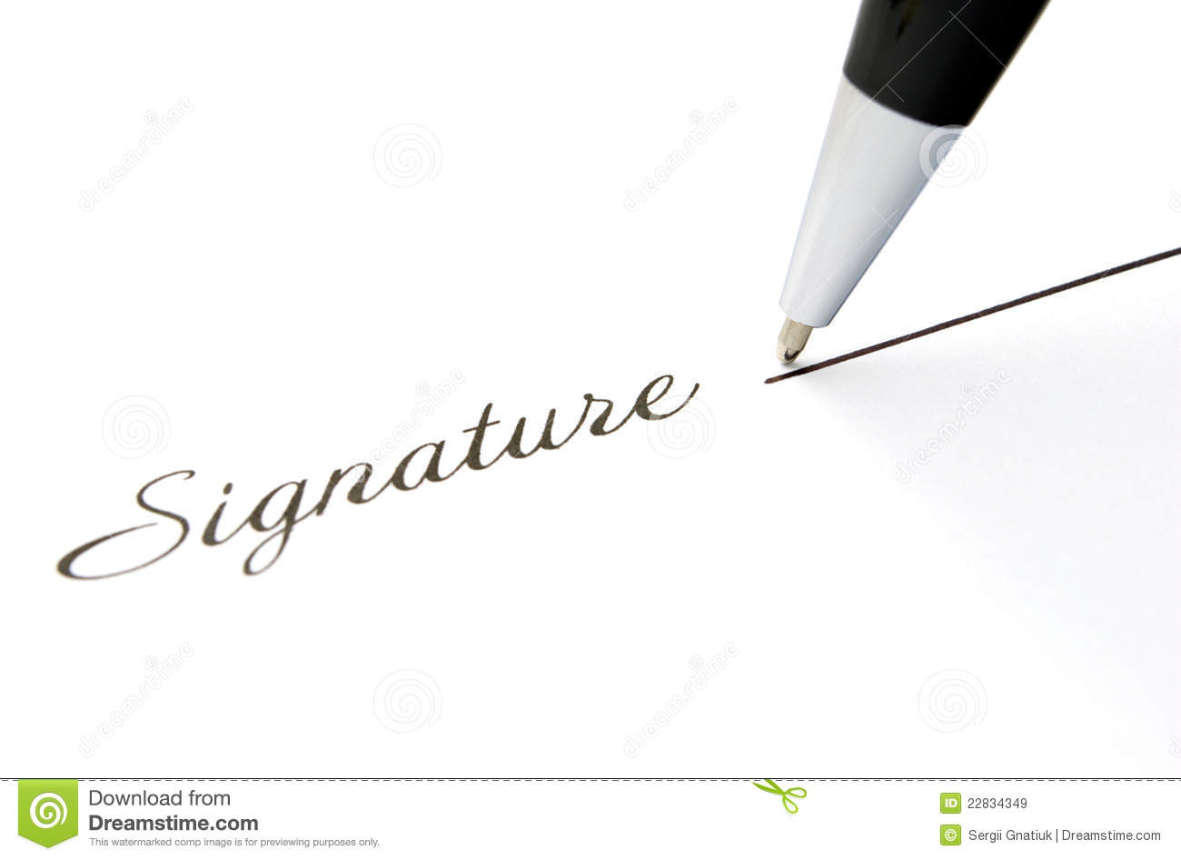 The Signature And Ball Pen Royalty Free Stock Images